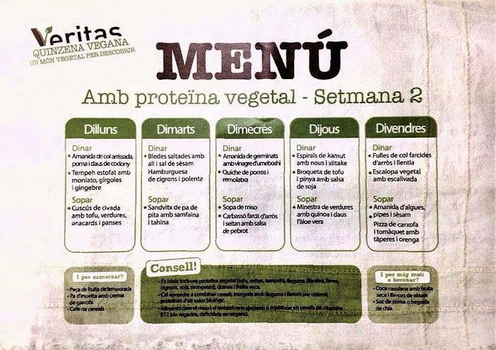 veganilandia men vegano de veritas semana 2 On menu para veganos