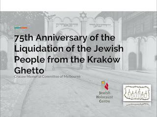 75th Anniversary of the liquidation of the Krakow ghetto
