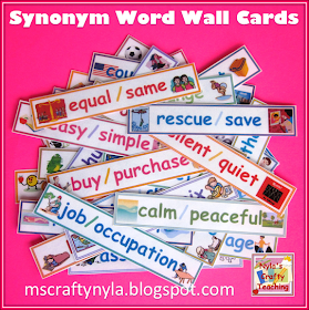 Nyla S Crafty Teaching Synonym Word Wall With Pictures