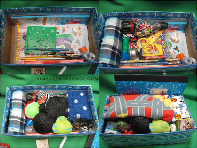 Packing an OCC shoebox for a 2 to 4 year old boy