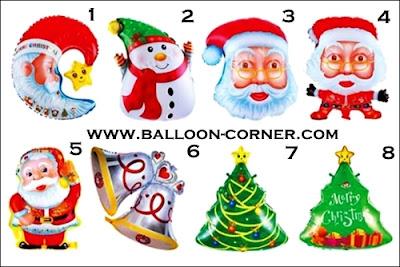 Balon Foil Seri Natal / Foil Seri Christmas