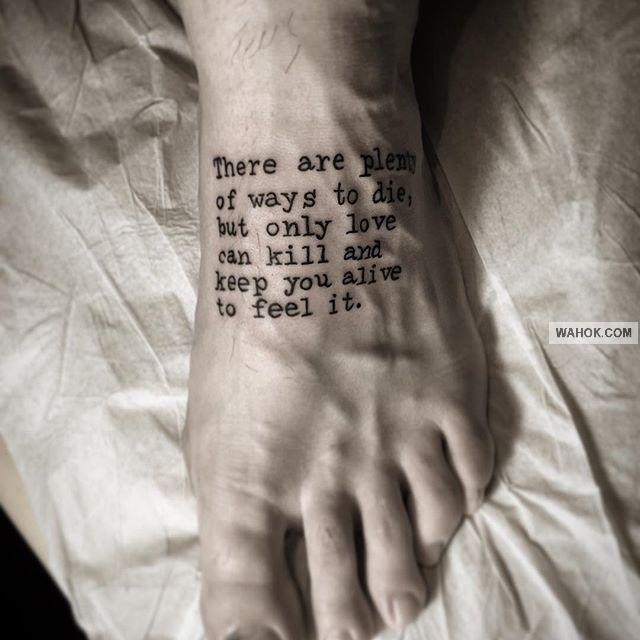 100 Gambar Tatto Teks Dengan Tulisan Keren Terbaru Koleksi Wahok