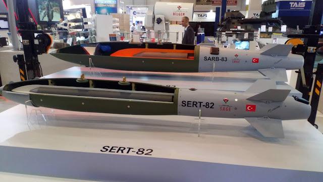 TÜBİTAK SAGE tarafından gelişitirlen SERT-82 ve SARB-83 mühimmatının lansmanı IDEF 2019'da gerçekleşitirildi. Yer üstü ve yer altındaki hedeflere karşı kullanılmak üzere tasarlanan mühimmatlar silah depoları,barajlar,yer altı sığınakları,uçak hangarları gibi kritik öneme sahip noktaları kullanılamaz hale getirecek.