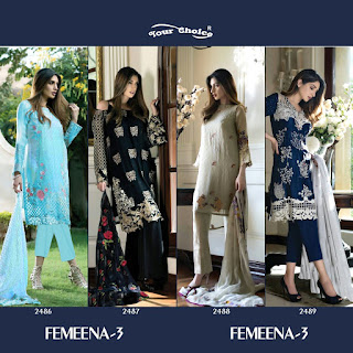 FEMEENA VOL 3 YOUR CHOICE SUITS WHOLESALER LOWEST PRICE SURAT GUJARAT