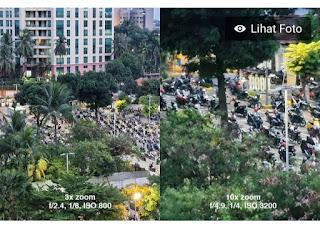 Hasil foto kamera Samsung Galaxy S21 plus 3× zoom