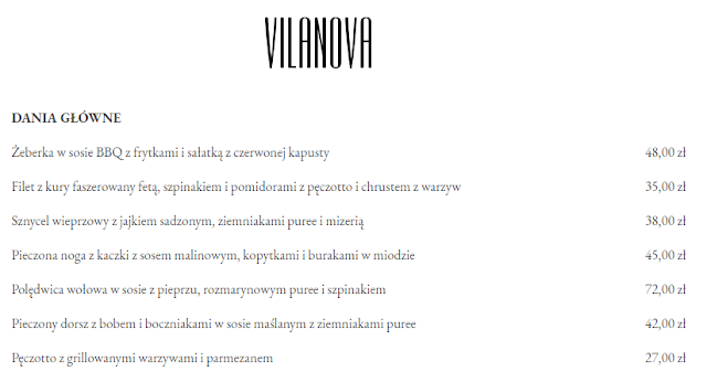 Recenzje restauracji Vilanowa Warszawa Wilanów opinie