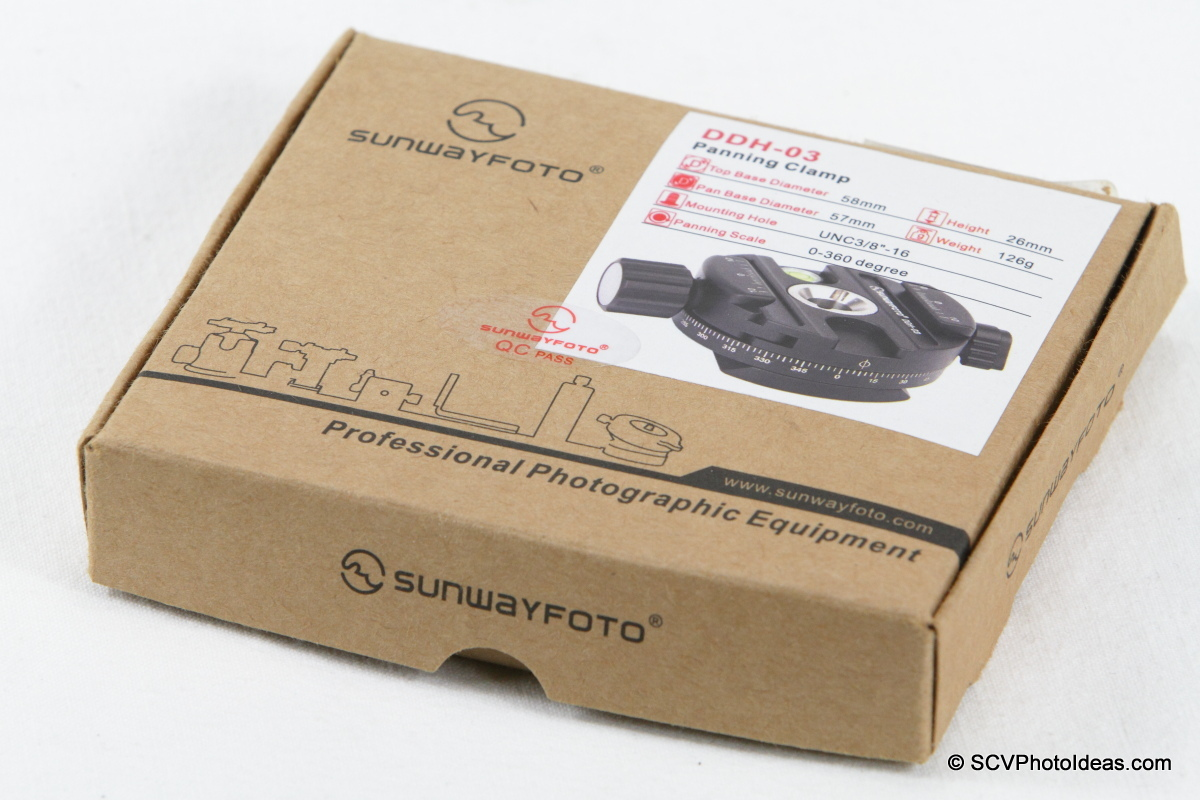 Sunwayfoto DDH-03 Panning Clamp box