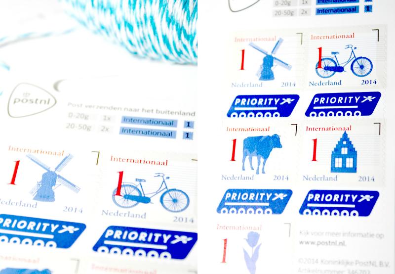 znaczki z holenderskimi symbolami
