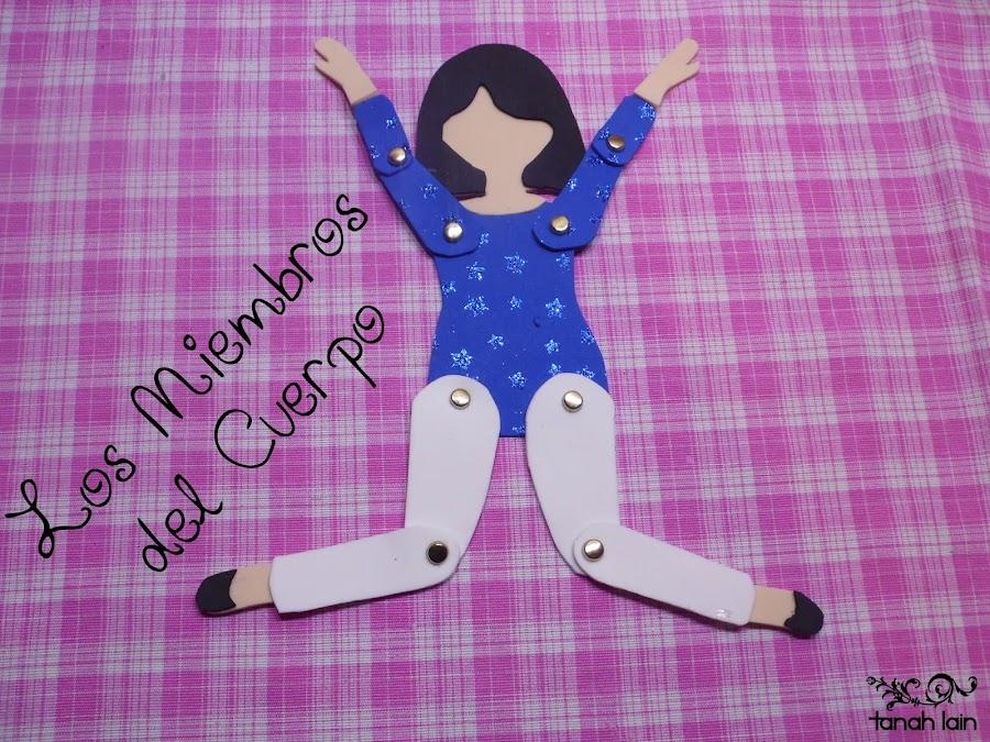 Los miembros del cuerpo: manualidad para niños de preescolar
