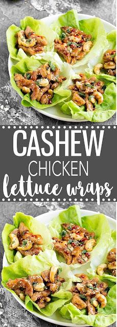 CASHEW CHICKEN LETTUCE WRAPS HEALTHY