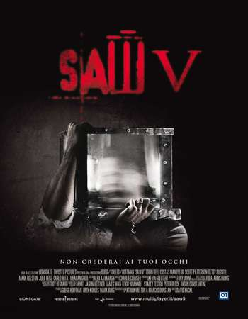 Poster Of Saw V 2008 English 120MB BRRip HEVC Mobile ESubs Watch Online Free Download Worldfree4u