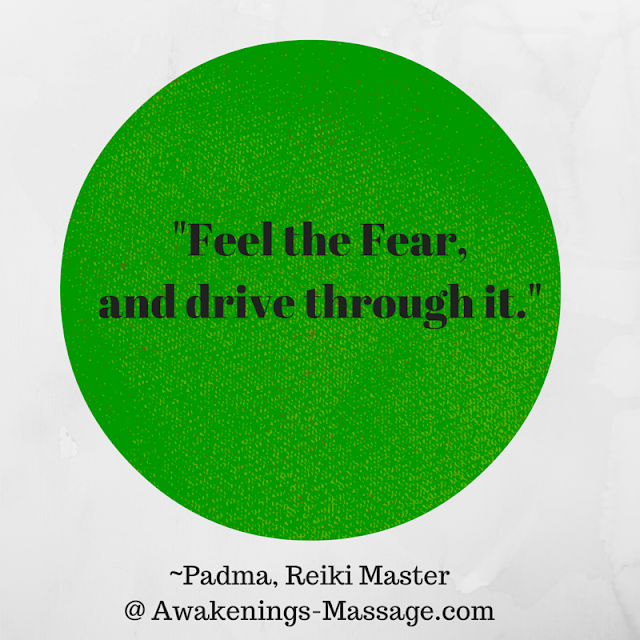 FEAR: How to drive our way through that scary word.