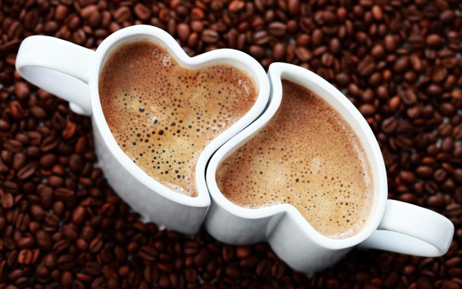 hình nền ly cà phê trái tim