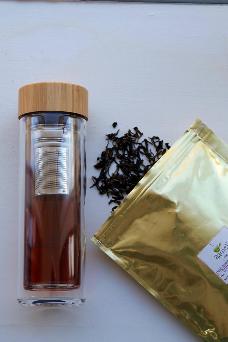 on the go black lemon tea drink, detox water recipe