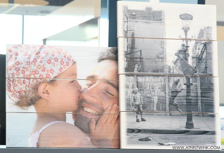 HEMA foto prints op hout