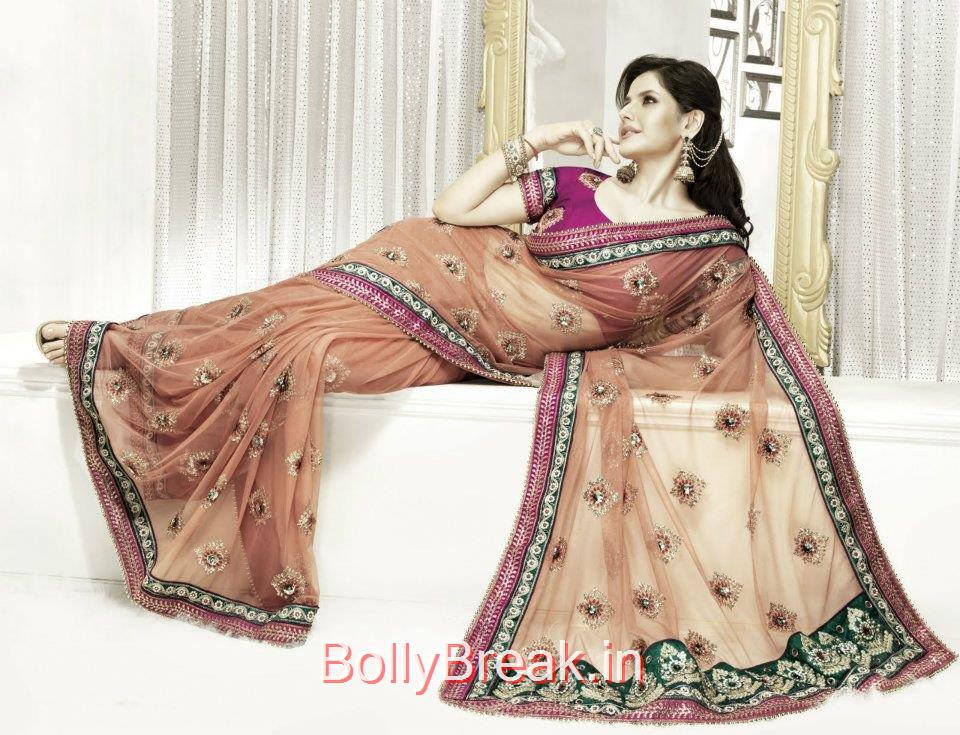 ,  Zarine Khan hot Saree Photoshoot Images in HD