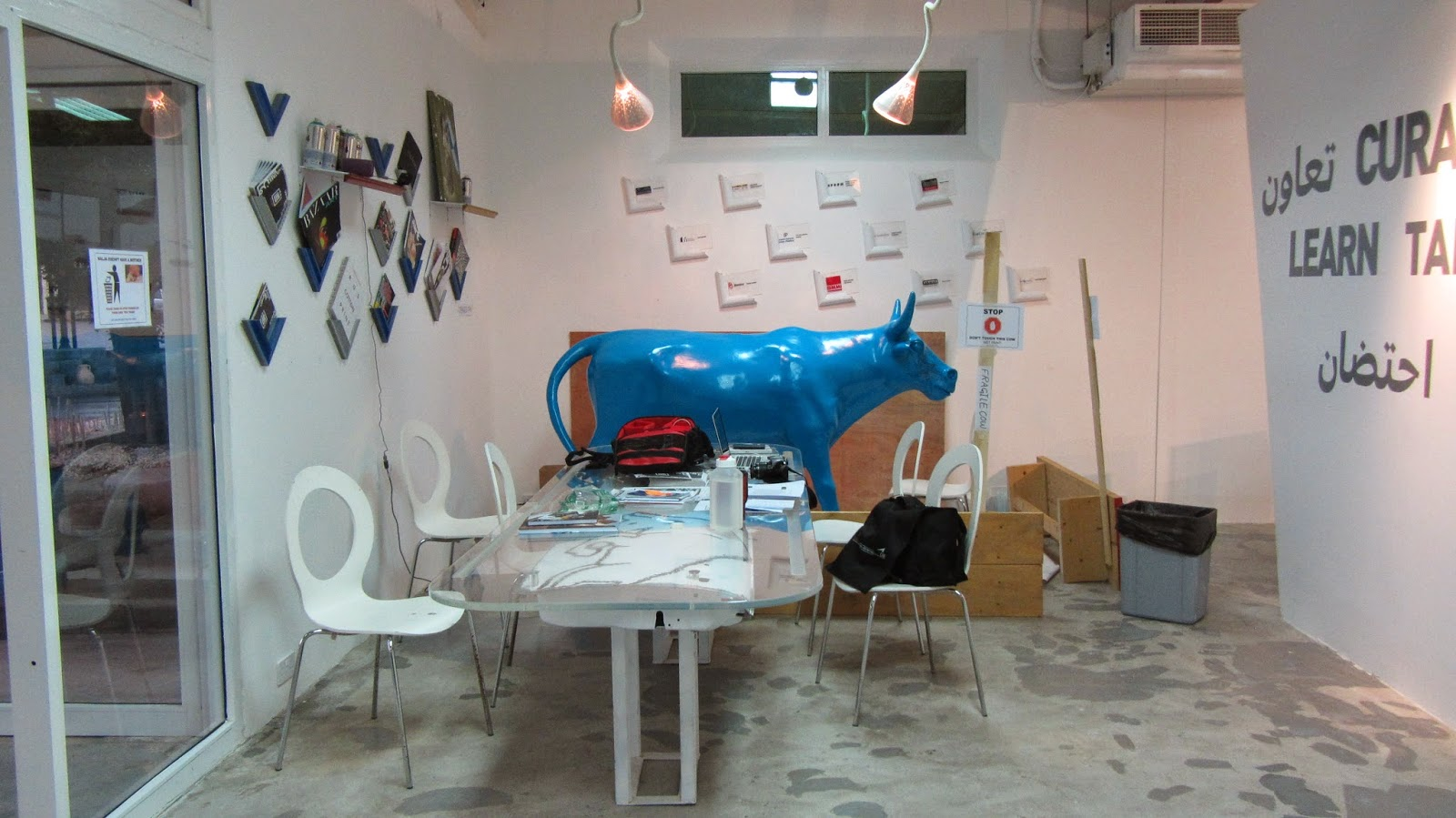 Malja A Red Bull space Amwaj Islands Bahrain blue cow blog