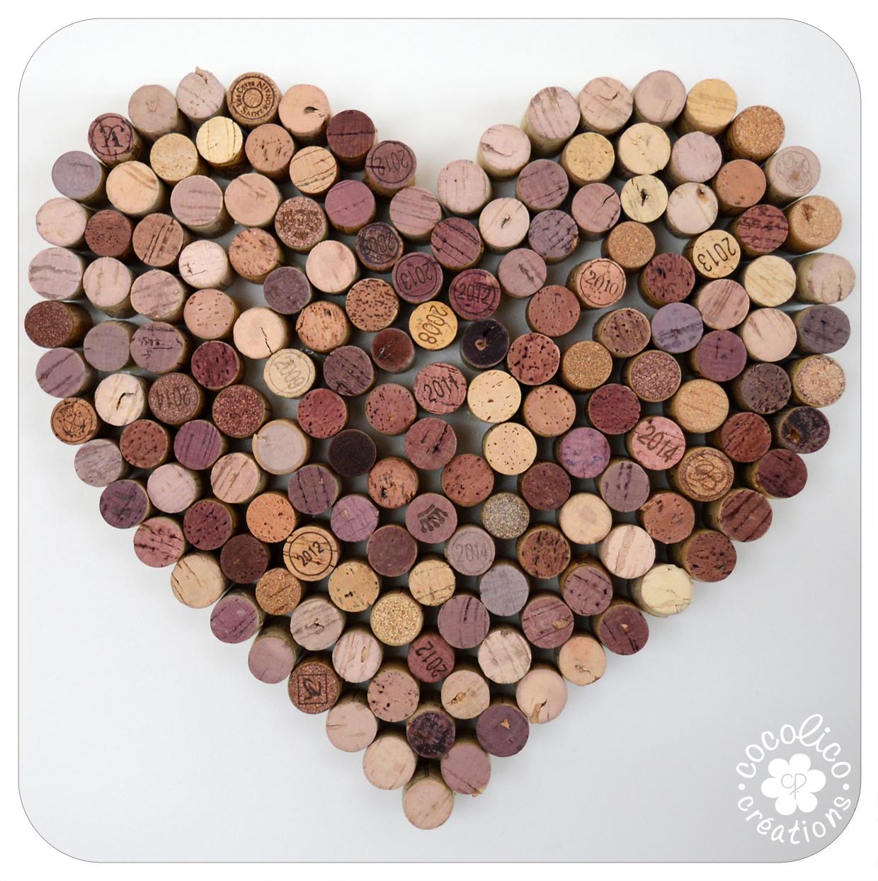 Populaire cocolico-creations: Dites-le avec des Coeurs : coeur de bouchons KX78