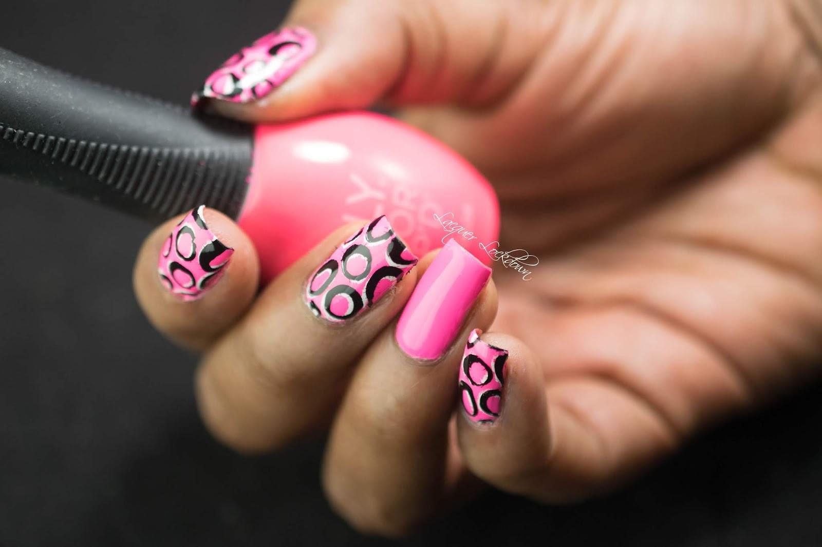 Lacquer Lockdown: Super Girly Neon Geometric Nail Art + Tutorial!