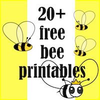 free bee themed printables
