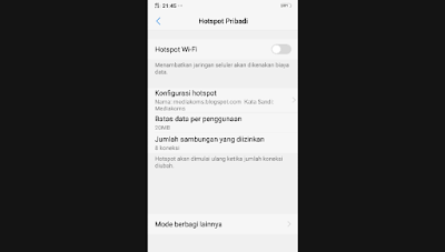 How to limit hotspot users to HP oppo vivo