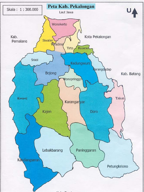 Peta Kabupaten Pekalongan
