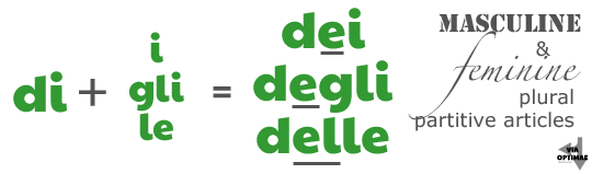 di + i, gli, le = dei, degli, dell',  della; Partitive Articles on Via Optimae, https://www.viaoptimae.com/2014/08/the-partitive-article.html