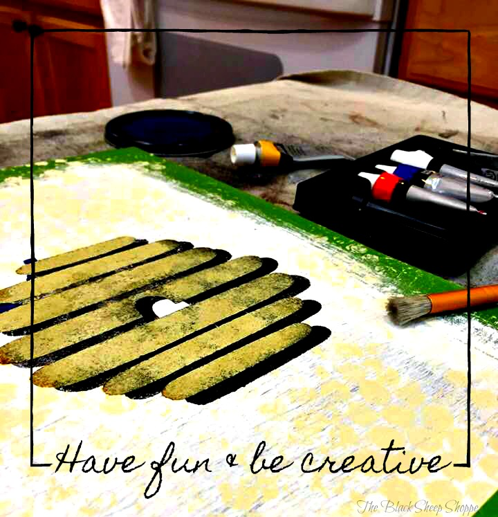 Have fun and be creative. All you need are a few basic colors, a brush, and stencils.
