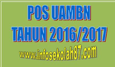 POS UAMBN Tahun Pelajaran 2016/2017