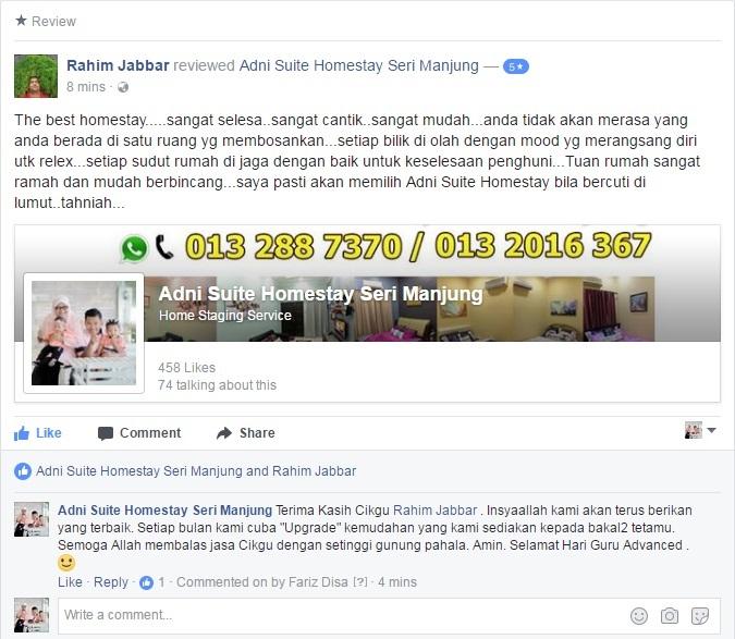 Adni Suite Homestay Seri Manjung Lumut | Review 3