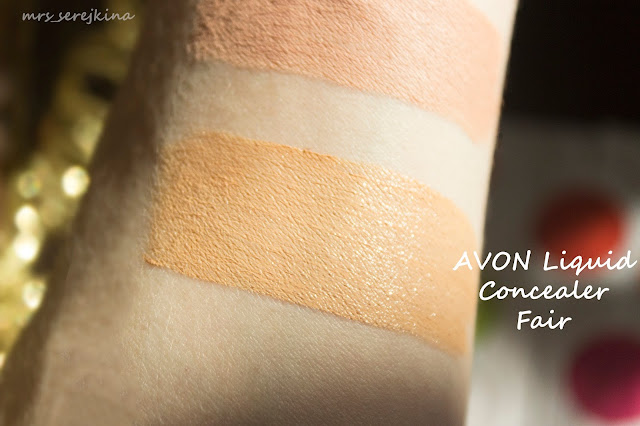 Avon Calming Effects Liquid Concealer оттенок Светлый/Fair: свотч