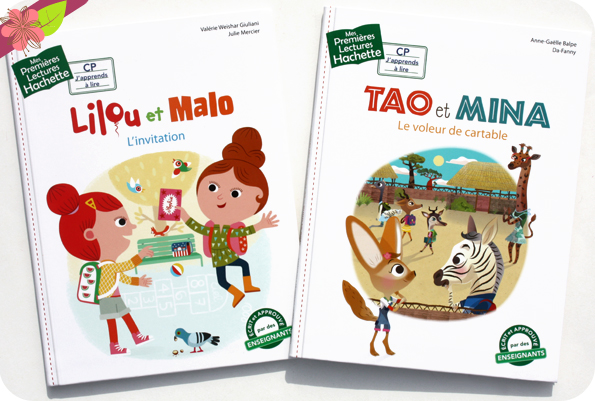 Collection Mes Premières Lectures Hachette : Lilou et Malo - L'invitation & Tao et Mina - Le voleur de cartable