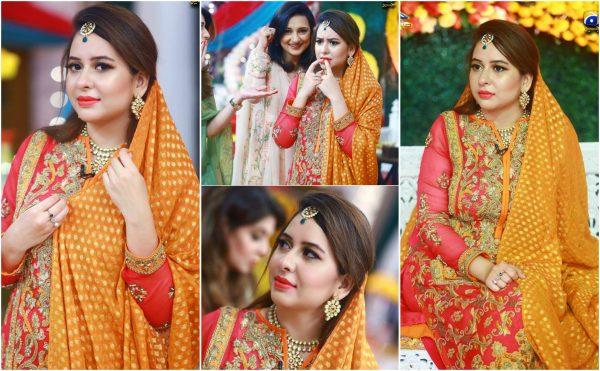 News Anchor Rabia Anum Mayoon Ceremony in Geo Subah Pakistan