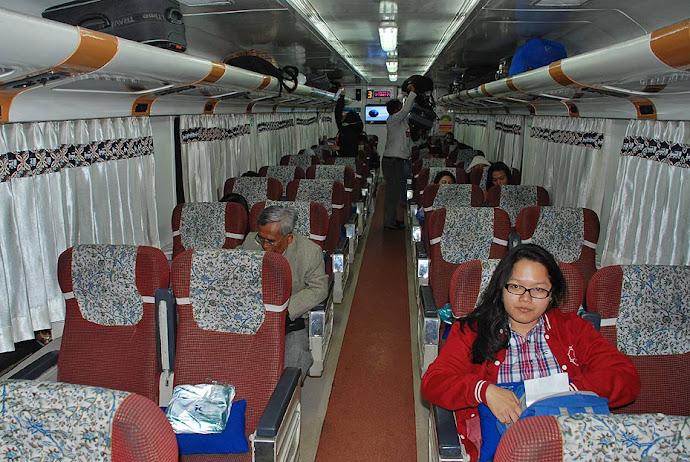 Interior de vagón de tren