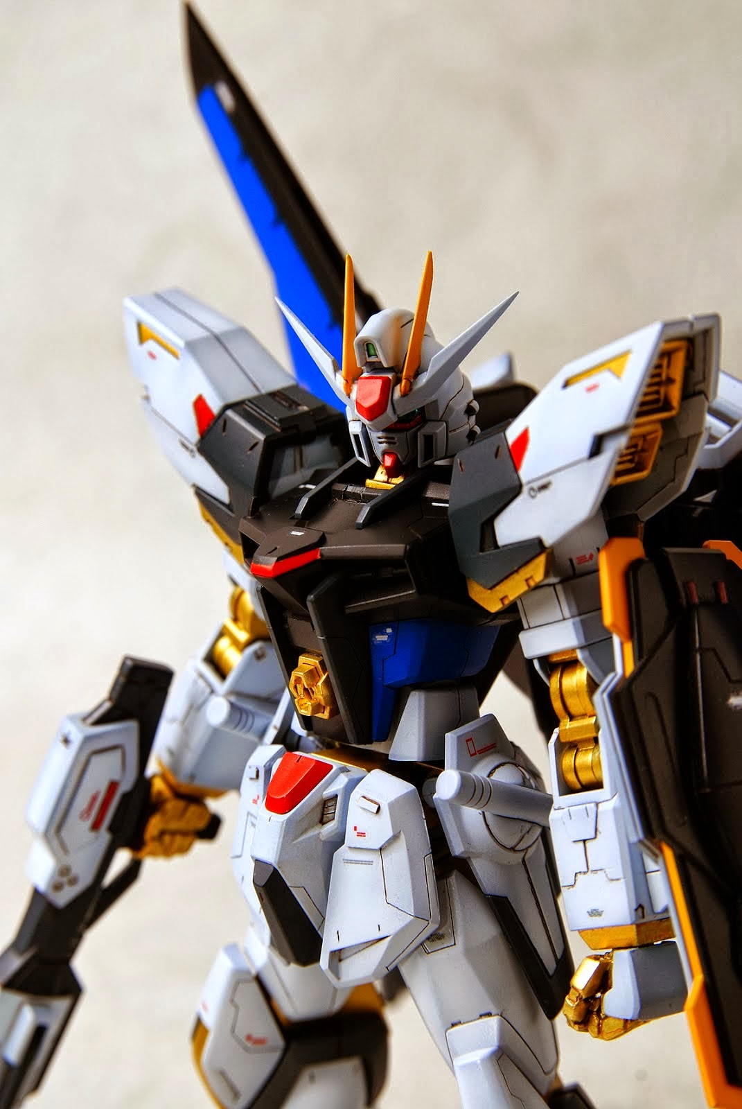 Custom Build: HGBF 1/144 Build Strike Gundam Full Package [Strike Freedom Colors]