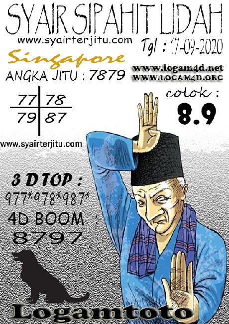 Kode syair Singapore Kamis 17 September 2020 134