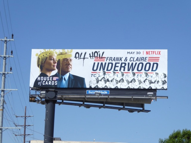 House of Cards season 5 billboard