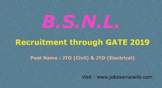 BSNL Recruitment : For JTO posts