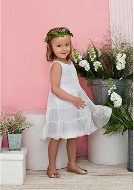 Vestidos para nenas verano 2018.