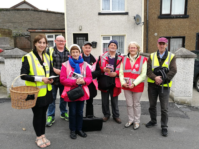 A small group of canvassers in County Wexford.