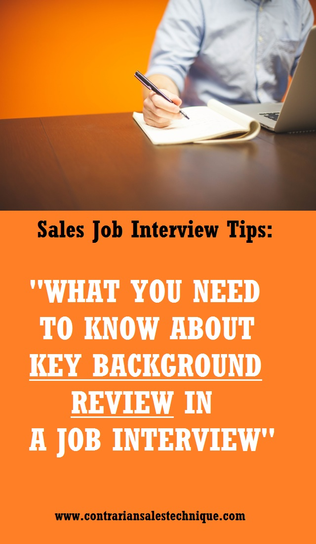 Key Background Review In A Job Interview What You Need to Know