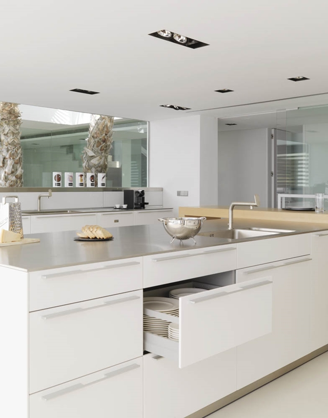 White modern kitchen furniture