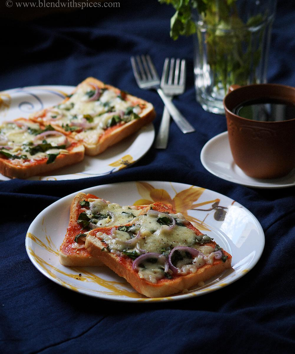 easy bread recipes, healthy spinach pizza recipe, blendwithspices.com
