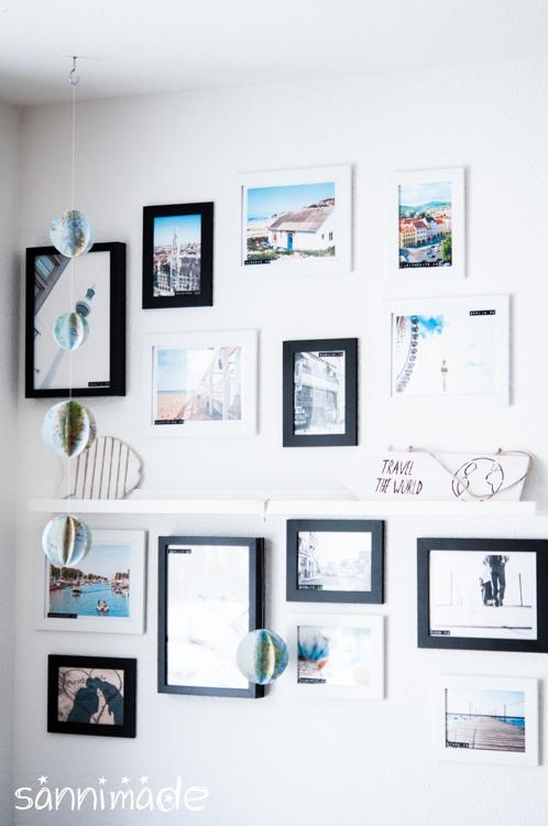 diy picture wall paper globe sannimade. Black Bedroom Furniture Sets. Home Design Ideas