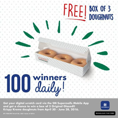 Free Krispy Kreme Doughnut from SM Supermalls App         -          War Of Hearts and Minds