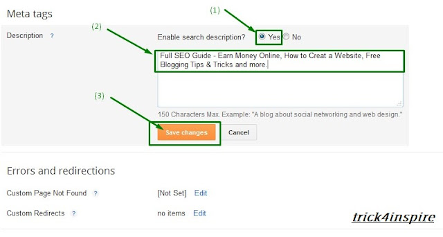 Blogger Blog Me Advanced SEO Setting Enable Kaise Kare~Full Guide In Hindi Hitmeindia