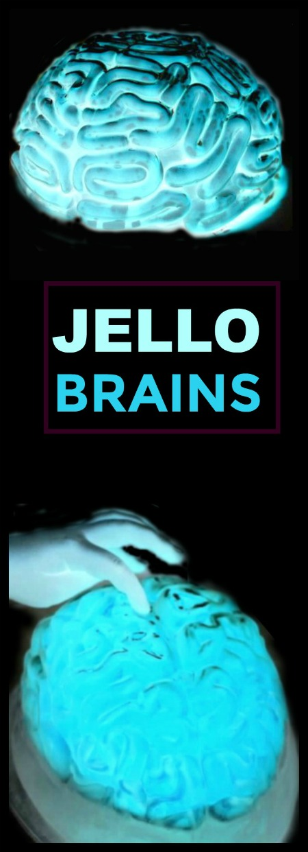 GLOWING JELLO BRAINS!  A grossly delicious food recipe for Halloween
