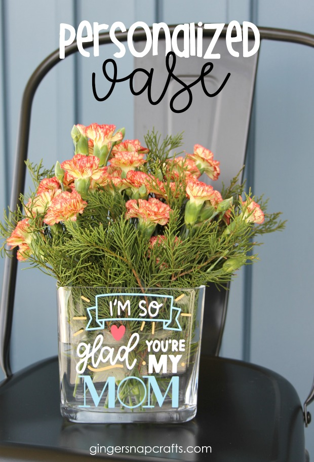 I personalized this vase for Mother's Day, but what I love about vinyl & my Cricut is that you could personalize this project in just about any way you'd ...