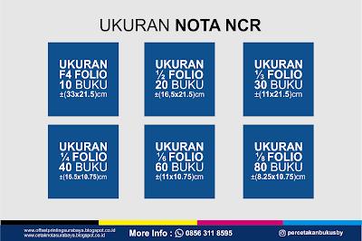 ukuran nota NCR
