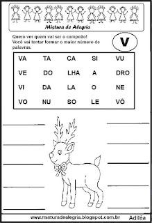 Formar palavras com a letra v